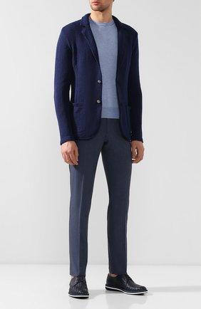Мужской кожаные дерби BARRETT темно-синего цвета, арт. ACE-007.2/RIX0N SP0RT INT 405 | Фото 2