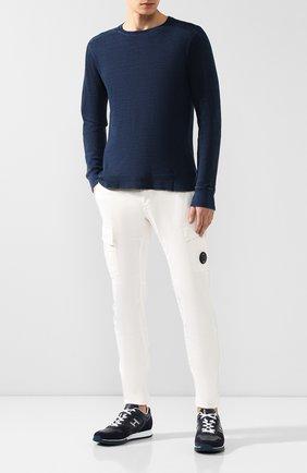 Мужской хлопковый джемпер RRL темно-синего цвета, арт. 782658318 | Фото 2