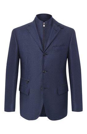 Пиджак из смеси шелка и хлопка | Фото №1
