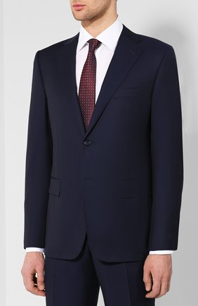 Мужской шерстяной костюм CORNELIANI темно-синего цвета, арт. 837315-9118150/92 Q1 | Фото 2