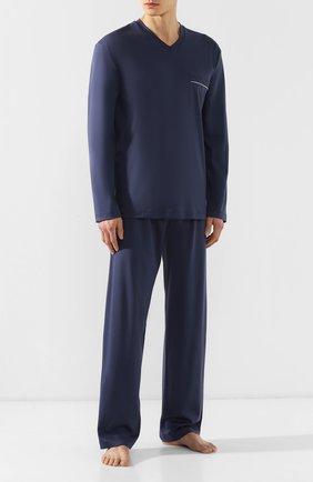 Мужская хлопковая пижама ZIMMERLI темно-синего цвета, арт. 8500-9540 | Фото 1