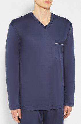 Мужская хлопковая пижама ZIMMERLI темно-синего цвета, арт. 8500-9540 | Фото 2
