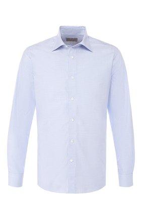 Мужская хлопковая рубашка с воротником кент CANALI светло-голубого цвета, арт. NX05/GR01593 | Фото 1