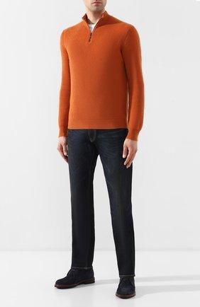 Мужской кашемировый джемпер LORO PIANA оранжевого цвета, арт. FAI5927 | Фото 2