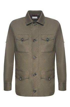 Мужская хлопковая куртка BRUNELLO CUCINELLI хаки цвета, арт. MD4226847 | Фото 1