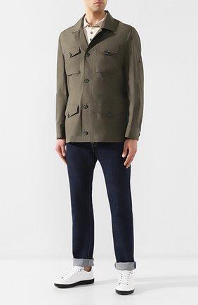 Мужская хлопковая куртка BRUNELLO CUCINELLI хаки цвета, арт. MD4226847 | Фото 2