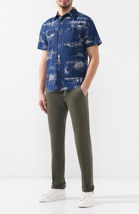 Мужская хлопковая рубашка RRL синего цвета, арт. 782725915 | Фото 2
