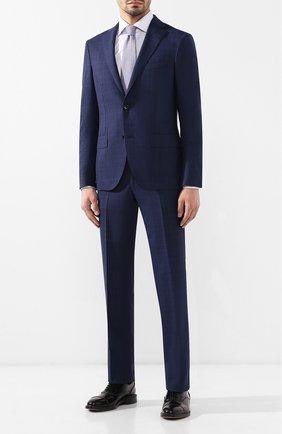 Мужская хлопковая рубашка с воротником кент BRIONI сиреневого цвета, арт. RCL016/P805X | Фото 2