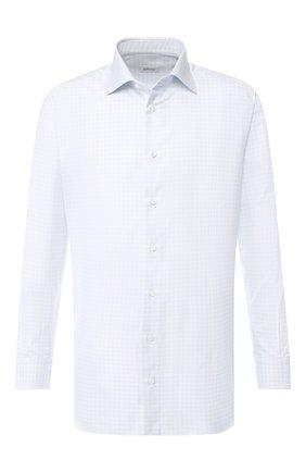 Мужская хлопковая рубашка BRIONI голубого цвета, арт. RCLU2W/P805X | Фото 1