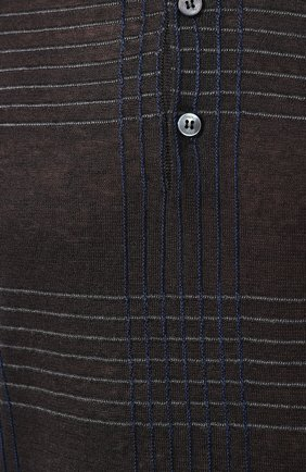 Мужское поло из смеси льна и шелка BRIONI темно-серого цвета, арт. UMR40L/P8K17 | Фото 5