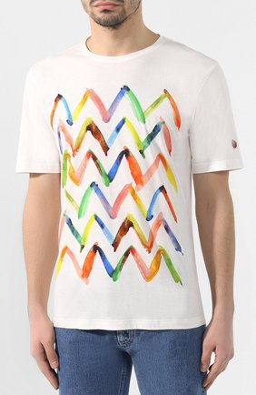 Хлопковая футболка Missoni белая | Фото №3