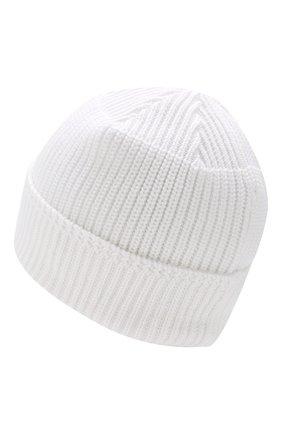 Мужская хлопковая шапка STONE ISLAND белого цвета, арт. 7015N01B3 | Фото 2