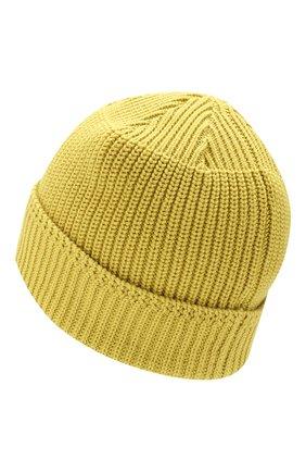 Мужская хлопковая шапка STONE ISLAND желтого цвета, арт. 7015N01B3 | Фото 2