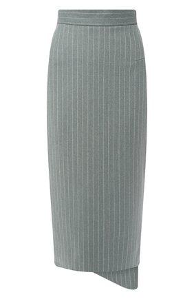 Шерстяная юбка Walk of Shame зеленая | Фото №1