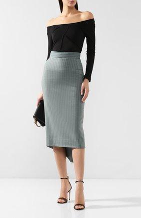 Шерстяная юбка Walk of Shame зеленая | Фото №2