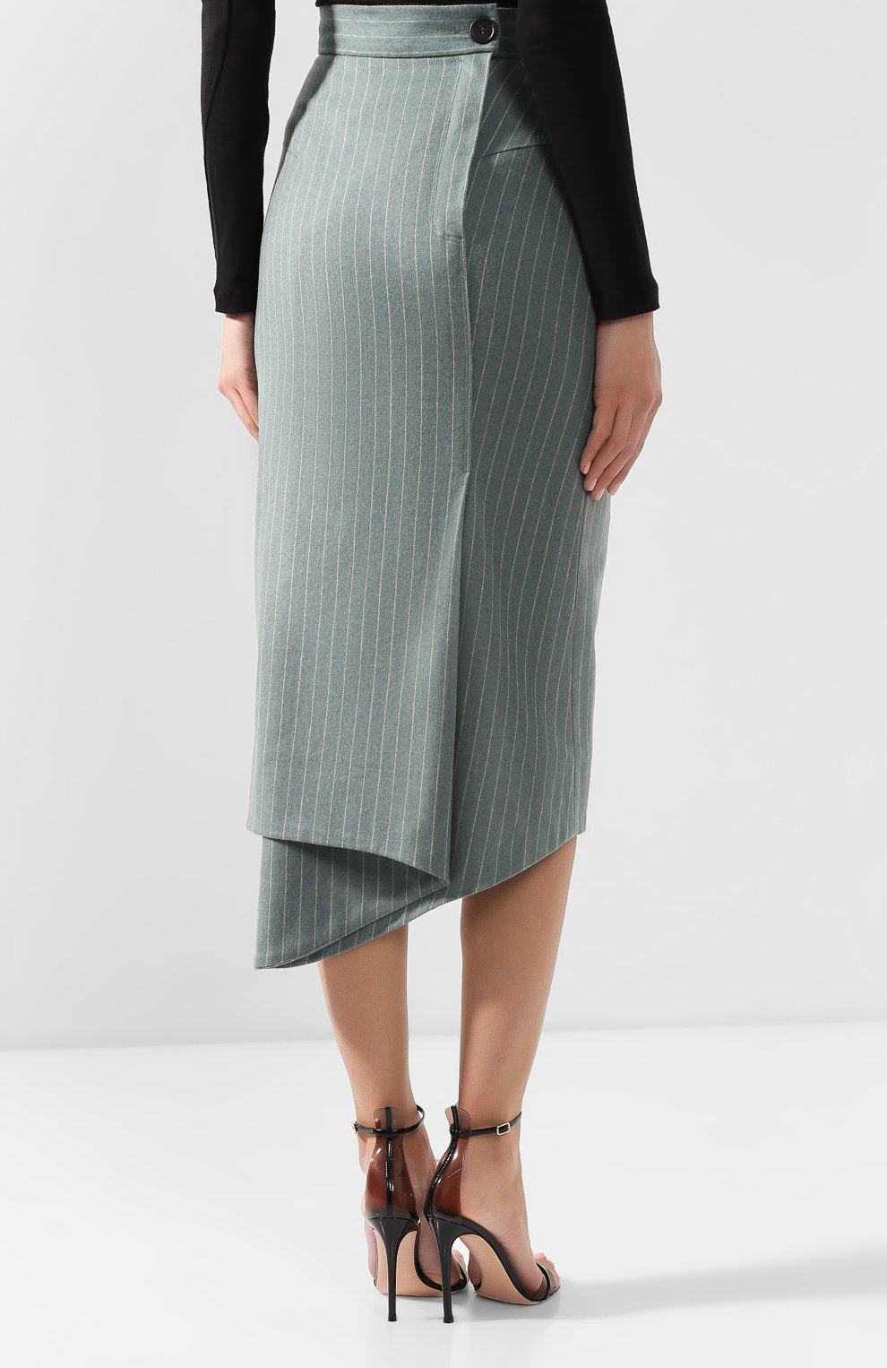 Шерстяная юбка Walk of Shame зеленая | Фото №4