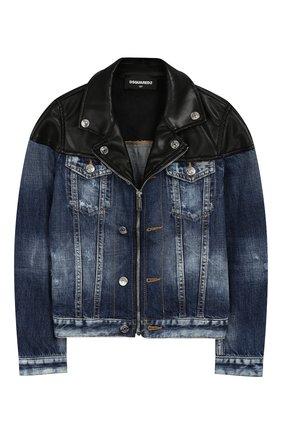 Джинсовая куртка на молнии | Фото №1