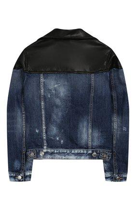Джинсовая куртка на молнии | Фото №2