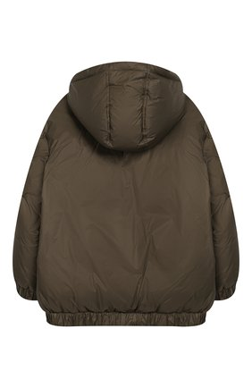 Детский пуховая куртка с капюшоном FENDI хаки цвета, арт. JMA122/A4RT/6A-8A | Фото 2