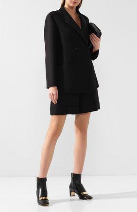 Женские кожаные ботильоны grace SERGIO ROSSI черного цвета, арт. A78930-MNAN07 | Фото 2