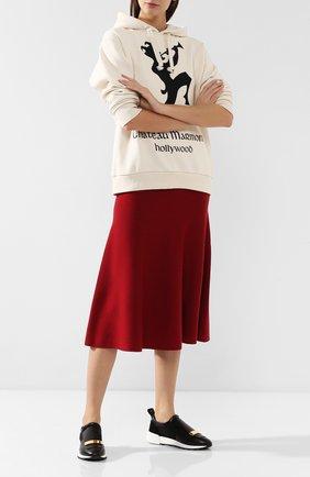 Женские комбинированные кроссовки SERGIO ROSSI черного цвета, арт. A80840-MFN295 | Фото 2