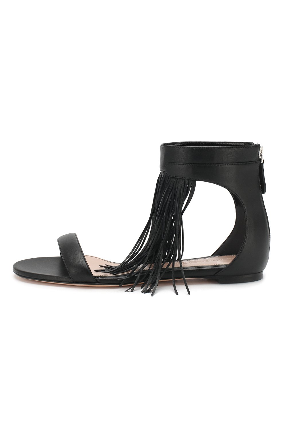 Кожаные сандалии Alexander McQueen черные | Фото №3