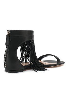 Кожаные сандалии Alexander McQueen черные | Фото №4