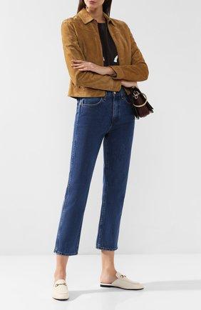 Женские кожаные сабо princetown GUCCI кремвого цвета, арт. 423513/C9D00 | Фото 2