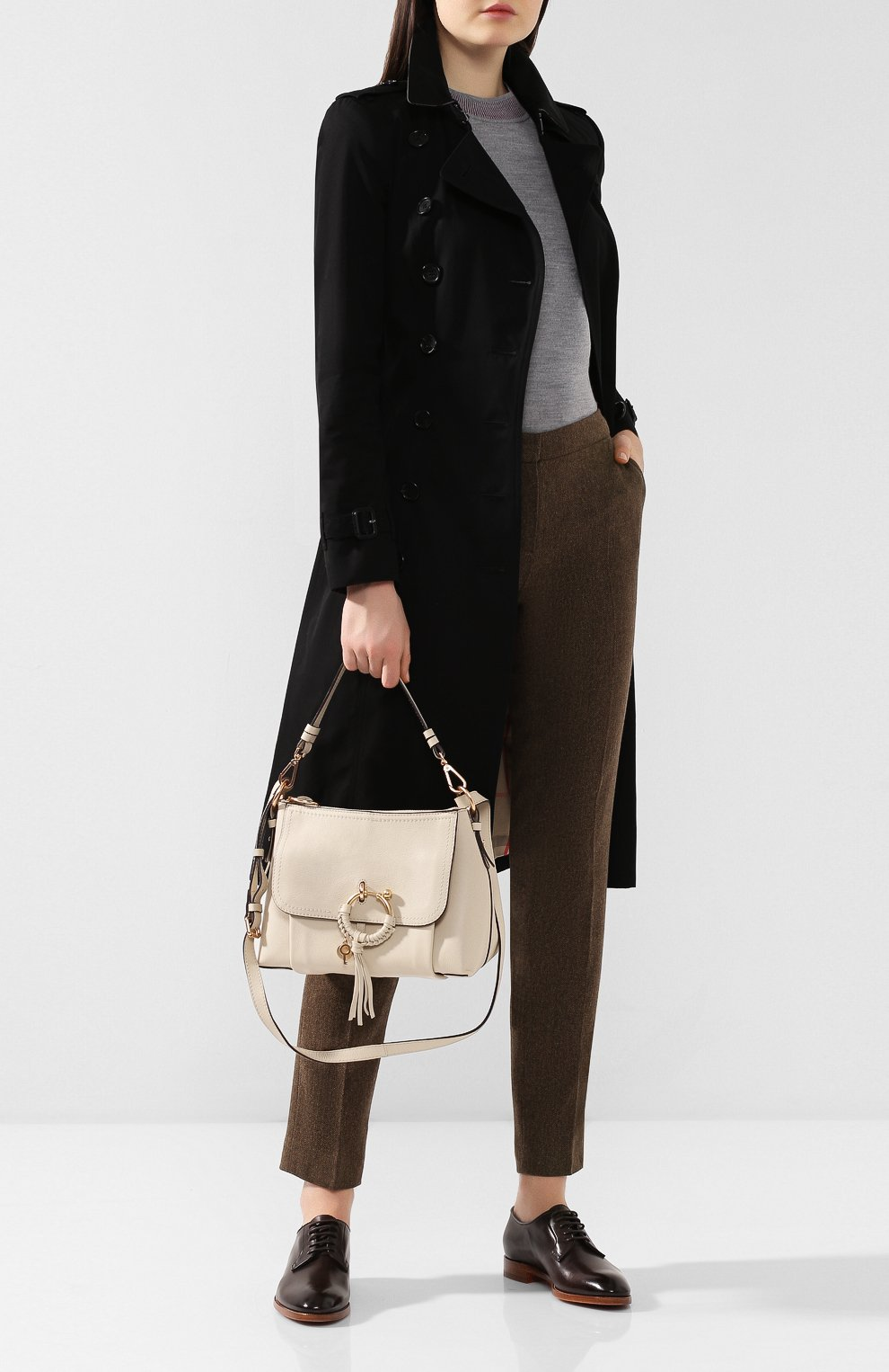 Женская сумка joan small SEE BY CHLOÉ бежевого цвета, арт. CHS18SS910388 | Фото 2