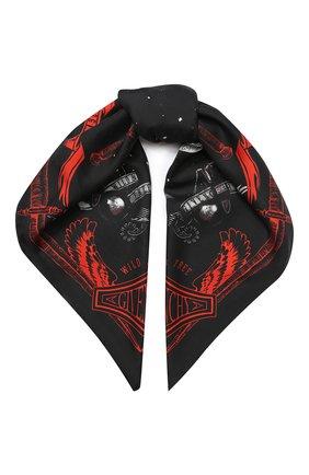 Женский шелковый платок GIVENCHY черного цвета, арт. GW9090/SG441 | Фото 1