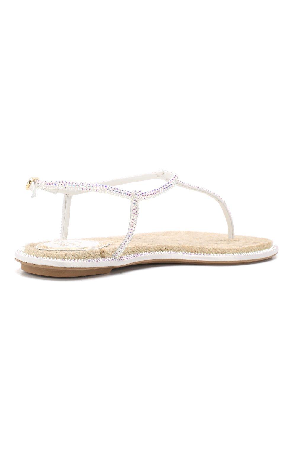 Кожаные сандалии Diana Rene Caovilla белые | Фото №4