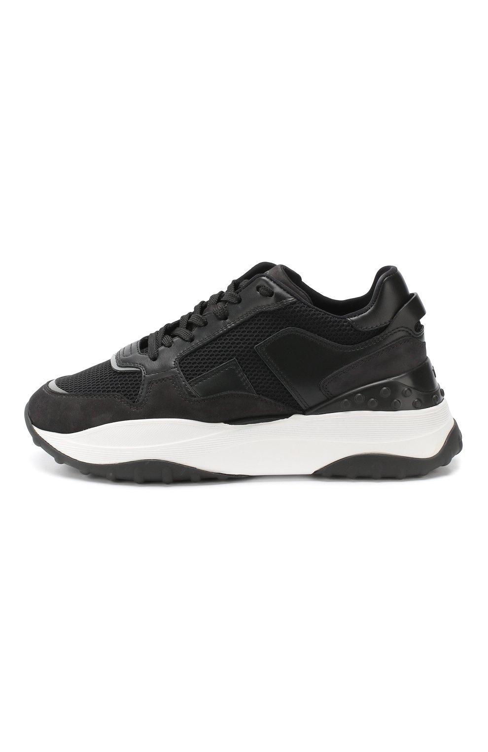 Комбинированные кроссовки Tod's черные   Фото №3