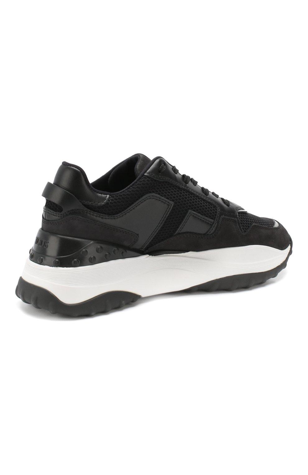 Комбинированные кроссовки Tod's черные   Фото №4
