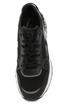 Комбинированные кроссовки Tod's черные   Фото №5