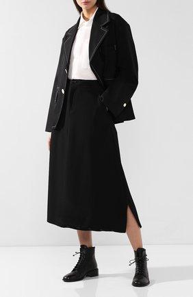 Женские кожаные ботинки MARSELL черного цвета, арт. MW5211/CAV.REVERSE | Фото 2