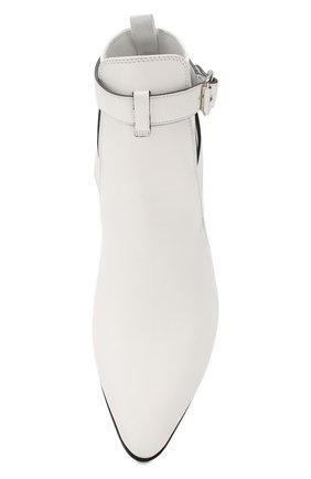 Кожаные ботинки Miu Miu белые | Фото №5