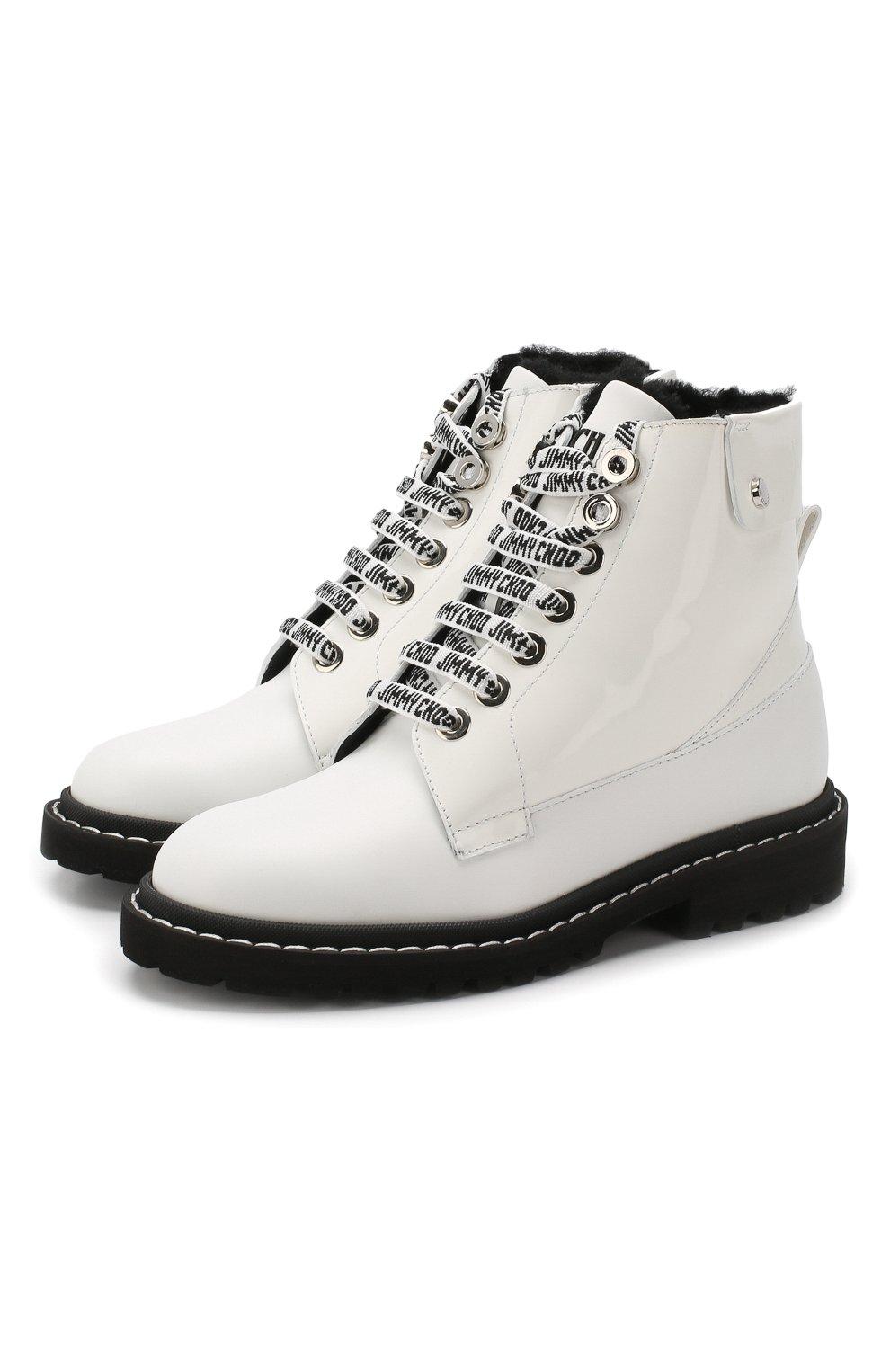 Кожаные ботинки Snow  Jimmy Choo черно-белые | Фото №1