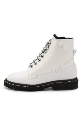Кожаные ботинки Snow  Jimmy Choo черно-белые | Фото №3