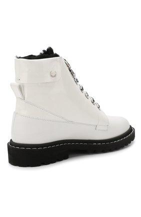 Кожаные ботинки Snow  Jimmy Choo черно-белые | Фото №4