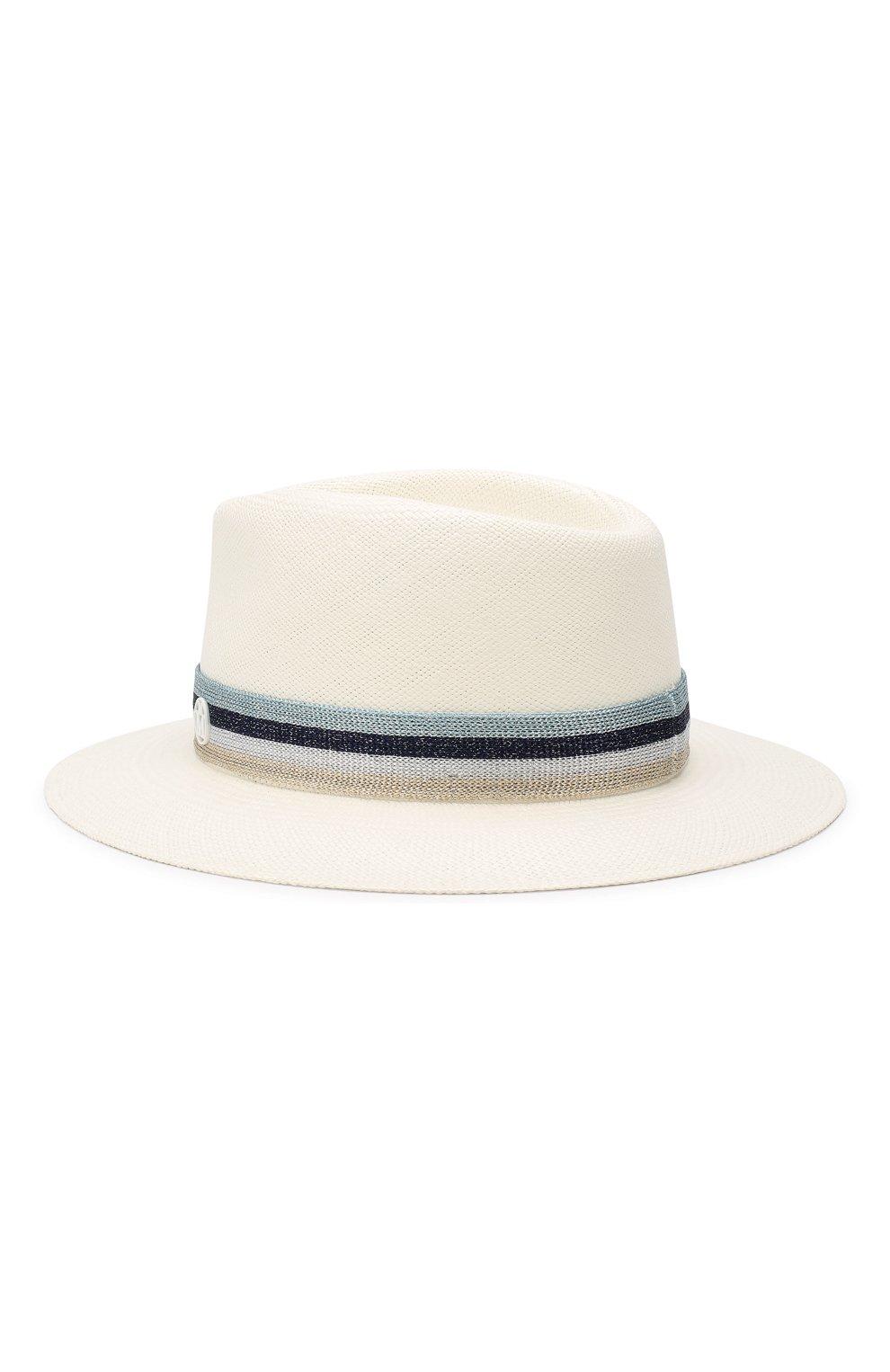 Соломенная шляпа Andre Maison Michel белого цвета | Фото №2