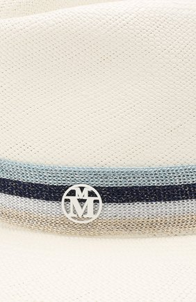 Соломенная шляпа Andre Maison Michel белого цвета | Фото №3