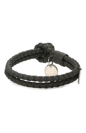 Кожаный браслет с плетением | Фото №2