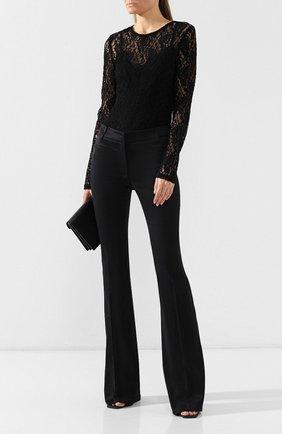 Женские расклешенные брюки TOM FORD черного цвета, арт. PAW159-FAX469 | Фото 2 (Длина (брюки, джинсы): Удлиненные; Материал внешний: Хлопок, Вискоза; Статус проверки: Проверена категория, Проверено; Случай: Формальный; Женское Кросс-КТ: Брюки-одежда)