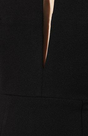 Женское платье-макси SOLACE черного цвета, арт. 0S21042 | Фото 5 (Случай: Вечерний; Рукава: Короткие, С открытыми плечами; Материал внешний: Синтетический материал, Полиэстер; Длина Ж (юбки, платья, шорты): Миди, Макси; Статус проверки: Проверено, Проверена категория)