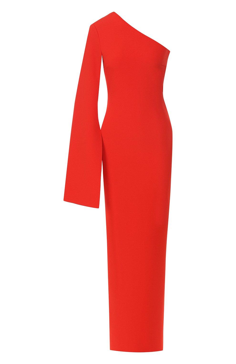 Женское платье на одно плечо SOLACE красного цвета, арт. 0S21056   Фото 1
