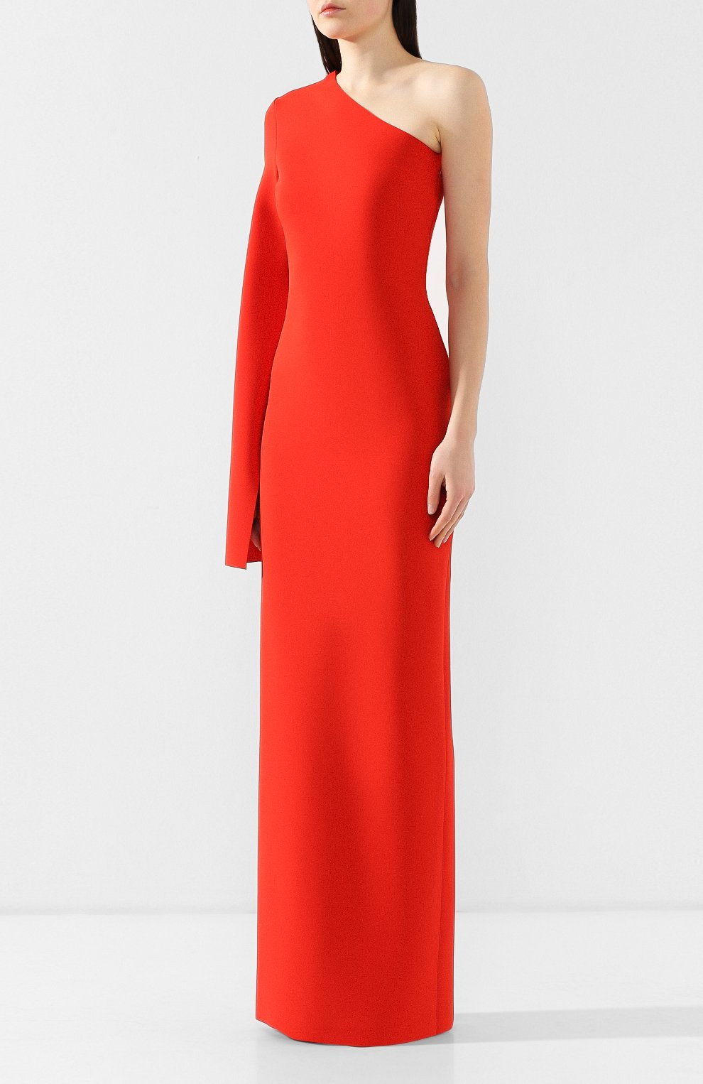 Женское платье на одно плечо SOLACE красного цвета, арт. 0S21056   Фото 3