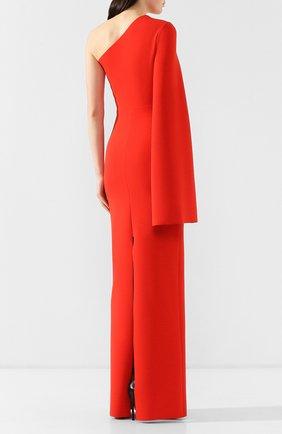 Женское платье на одно плечо SOLACE красного цвета, арт. 0S21056   Фото 4
