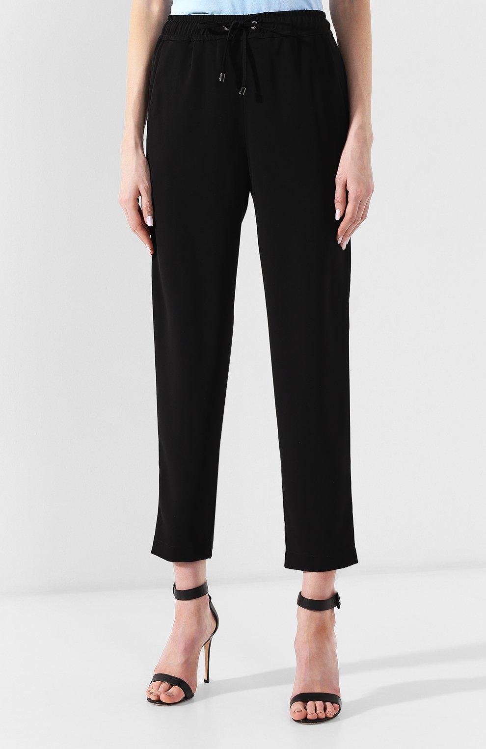 2a8f4d58a90 Женские черные брюки с поясом на кулиске EMPORIO ARMANI — купить за ...