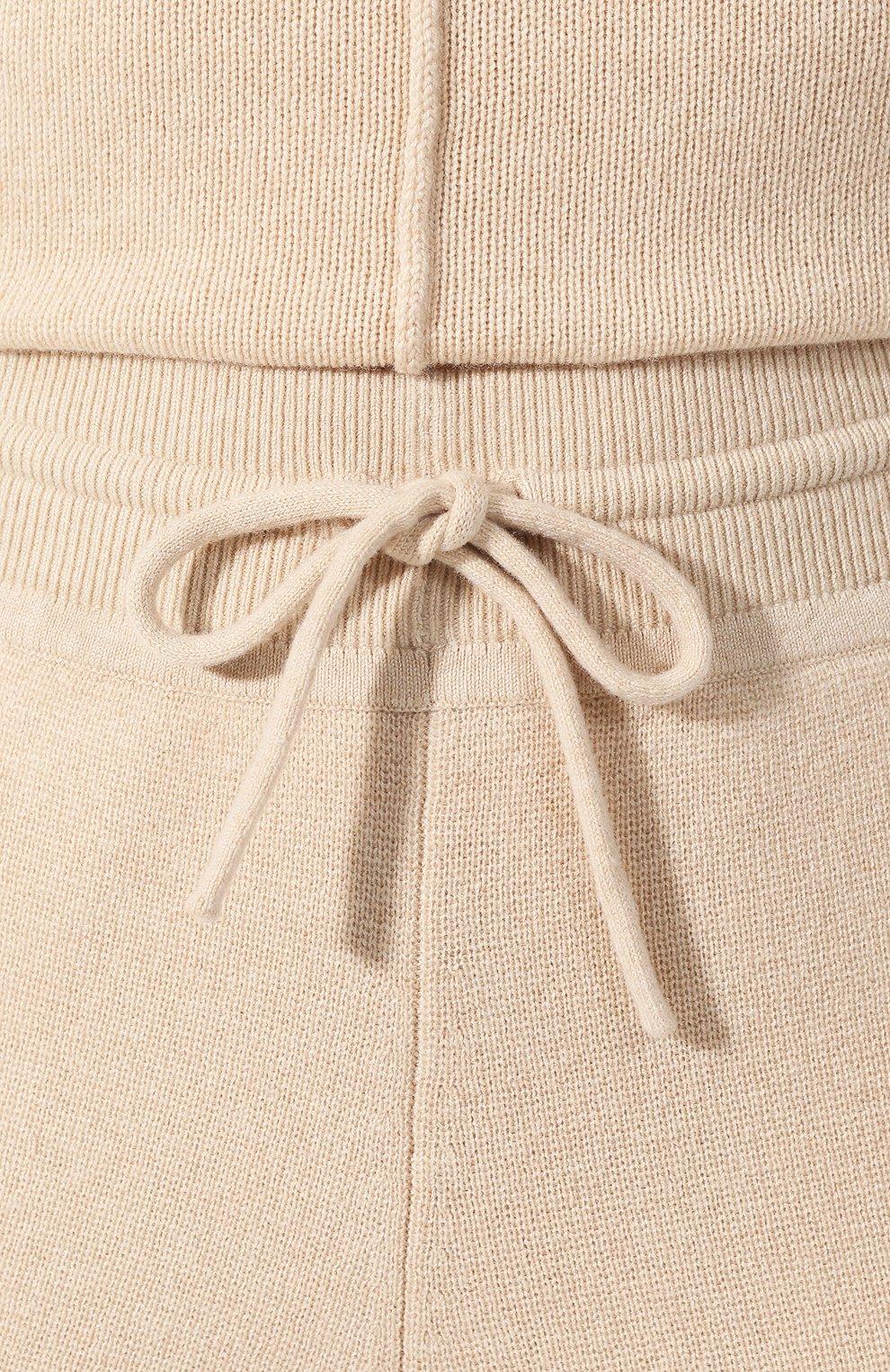 Женские кашемировые джоггеры CHLOÉ бежевого цвета, арт. CHC19SMT60500 | Фото 5