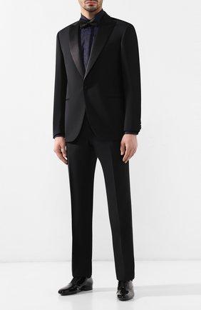 Мужской шерстяной смокинг с шелковыми лацканами CORNELIANI черного цвета, арт. 837210-9114135/02G1 | Фото 1